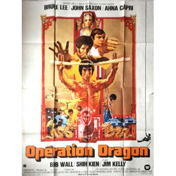 ENTER THE DRAGON French Movie Poster 47x63 - 1973 - Robert Clouse, Bruce Lee