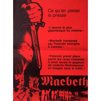 MACBETH Affiche de film 40x60 cm - 1971 - Jon Finch, Roman Polanski