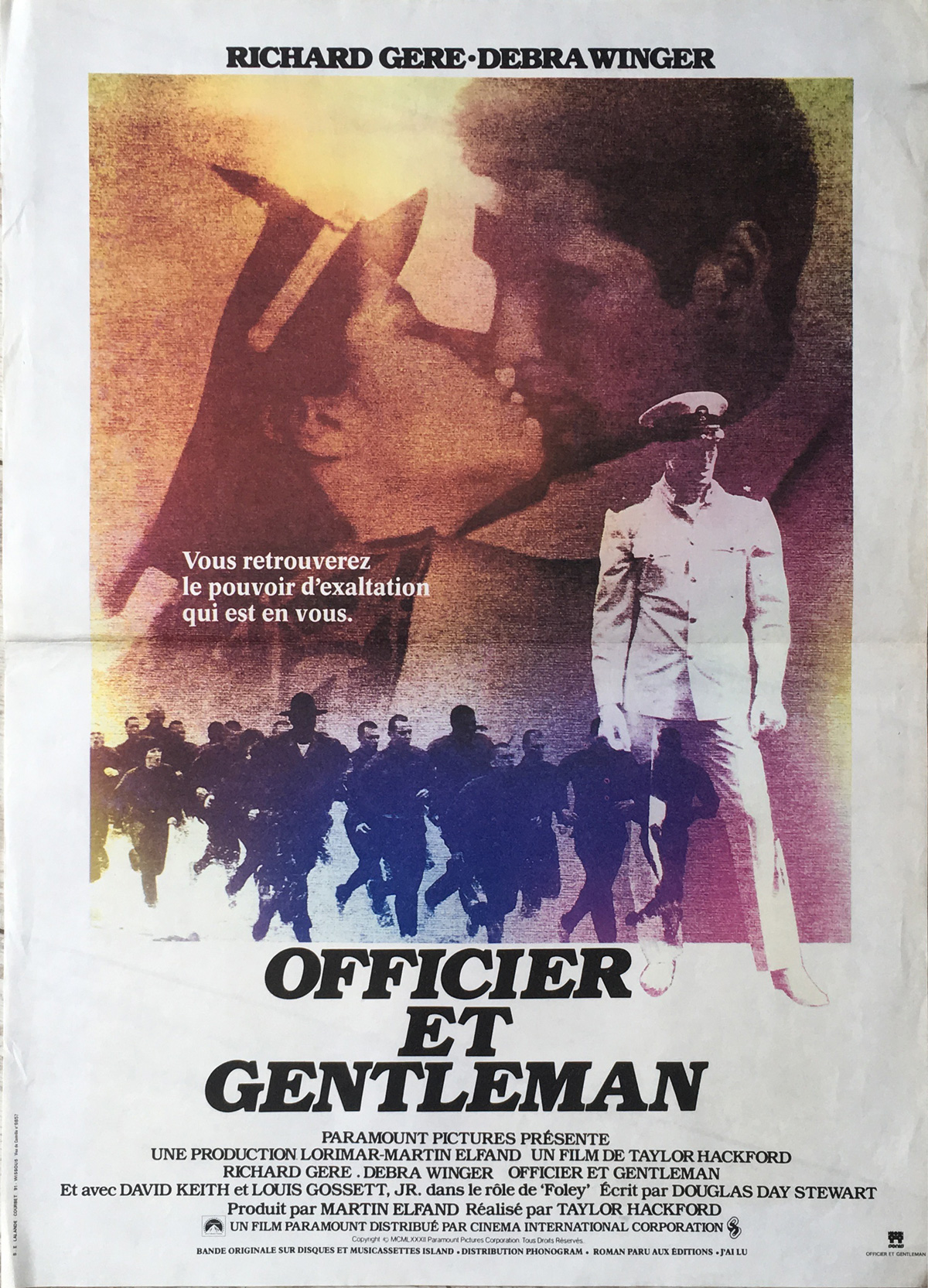 AN OFFICER AND A GENTLEMAN Movie Poster x in