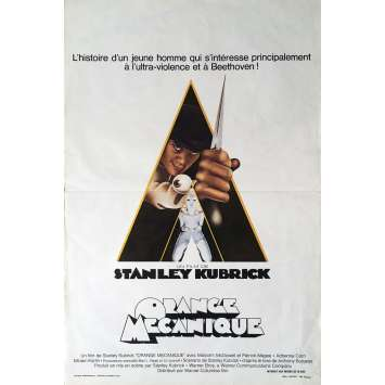 CLOCKWORK ORANGE Movie Poster 14x21 in. - R1980 - Stanley Kubrick, Malcom McDowell