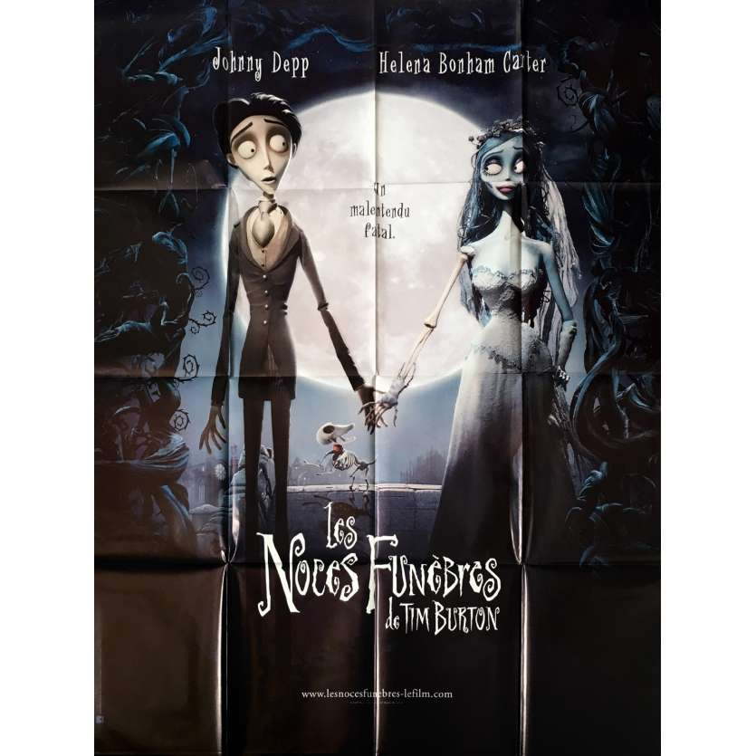 CORPSE BRIDE French Movie Poster 47x63 '05 Tim Burton, Johnny Deep