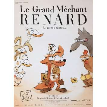 LE GRAND MECHANT RENARD Movie Poster 15x21 in. - 2017 - Patrick Imbert, Jean Regnaud