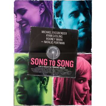 SONG TO SONG Movie Poster 15x21 in. - 2017 - Terrence Malick, Ryan Gosling