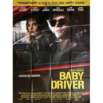 BABY DRIVER Affiche de film 120x160 cm - 2017 - Jon Hamm, Edgar Wright