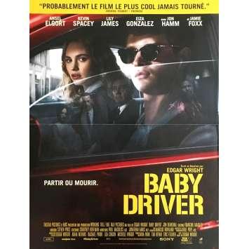 BABY DRIVER Movie Poster 15x21 in. - 2017 - Edgar Wright, Jon Hamm