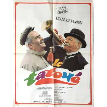 THE TATOO Movie Poster 23x32 in. - 1968 - Denys de la Patellière, Louis de Funes, Jean Gabin