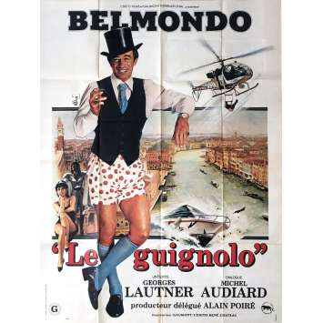 LE GUIGNOLO Movie Poster 47x63 in. - 1980 - Georges Lautner, Jean-Paul Belmondo