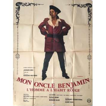 MY UNCLE BENJAMIN Movie Poster 47x63 in. - 1969 - Edouard Molinaro, Jacques Brel