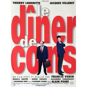 THE DINNER GAME Movie Poster 15x21 in. - 1998 - Francis Veber, Jacques Villeret