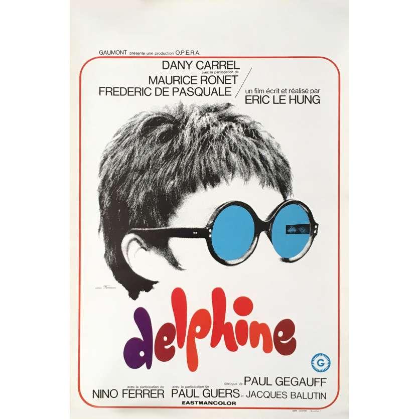 DELPHINE Affiche de film 35x55 cm - 1969 - Dany Carel, Eric Le Hung