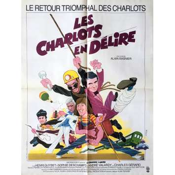 FOUR CHARLOTS MUSKETEERS Movie Poster 23x32 in. - 1974 - André Hunebelle, Les Charlots