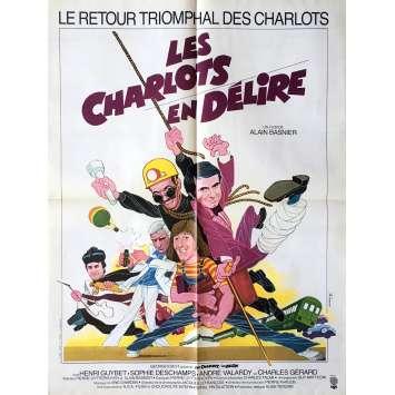 LES CHARLOTS EN DELIRE Affiche de film 60x80 cm - 1974 - Les Charlots, André Hunebelle