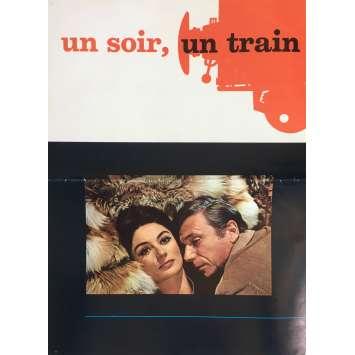 UN SOIR UN TRAIN Herald 8x12 in. - 1968 - André Delvaux, Yves Montand