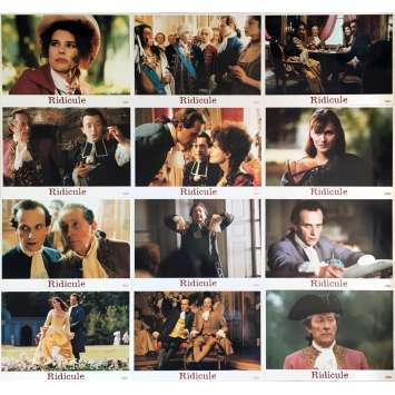 RIDICULE Lobby Cards 9x12 in. - 1996 - Patrice Leconte, Charles Berling