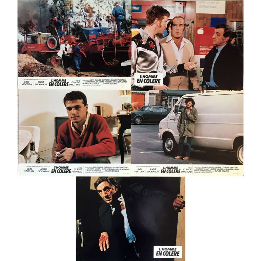 L'HOMME EN COLERE Lobby Cards 9x12 in. - 1979 - Claude Pinoteau, Lino Ventura