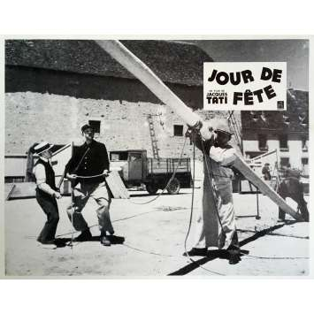 JOUR DE FETE Lobby Card 9x12 in. - N14 R1970 - Jacques Tati, Paul Frankeur
