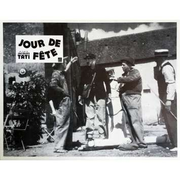 JOUR DE FETE Lobby Card 9x12 in. - N13 R1970 - Jacques Tati, Paul Frankeur