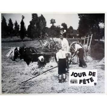 JOUR DE FETE Lobby Card 9x12 in. - N12 R1970 - Jacques Tati, Paul Frankeur