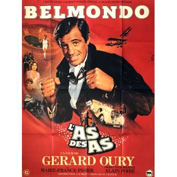 ACE OF ACES French Movie Poster 47x63 - 1982 - Gérard Oury, Jean-paul Belmondo