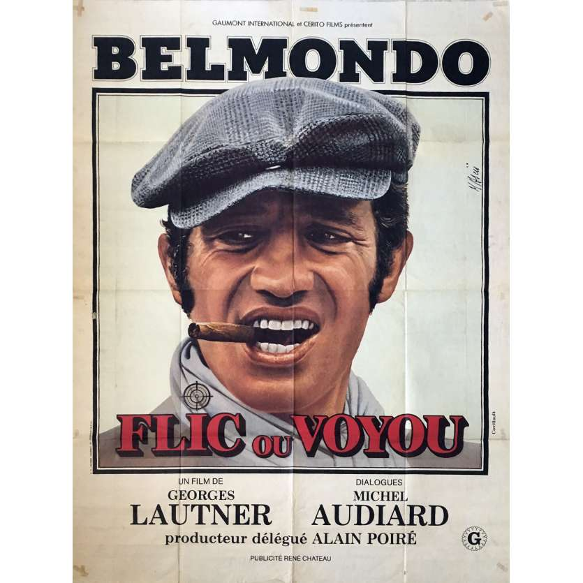 FLIC OU VOYOU French Movie Poster 47x63- 1978 - Georges Lautner, Jean-Paul Belmondo