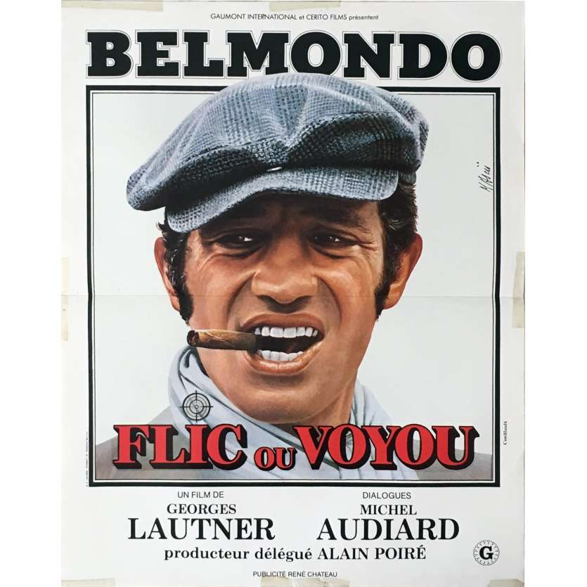 COP OR HOOD French Movie Poster 15x21 '78 Jean-Paul Belmondo