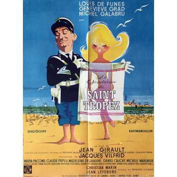 LE GENDARME A ST TROPEZ French Movie Poster 23x32 - 1964 - Jean Girault, Louis de Funes
