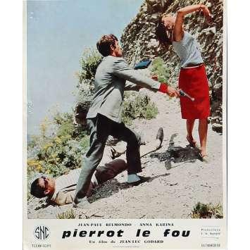 PIERROT LE FOU Lobby Card 9,5x12 in. - N12 1965 - Jean-Luc Godard, Jean-Paul Belmondo