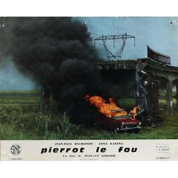 PIERROT LE FOU Photo de film 25x30 cm - N09 1965 - Jean-Paul Belmondo, Jean-Luc Godard