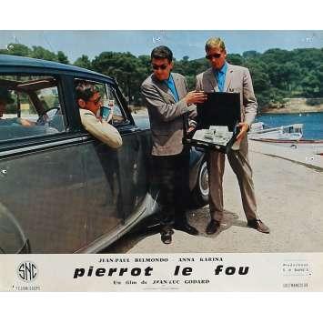 PIERROT LE FOU Lobby Card 9,5x12 in. - N08 1965 - Jean-Luc Godard, Jean-Paul Belmondo