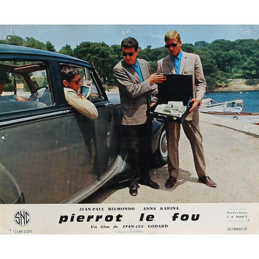 PIERROT LE FOU Photo de film 25x30 cm - N08 1965 - Jean-Paul Belmondo, Jean-Luc Godard