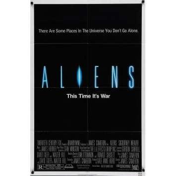 ALIENS 1sh '86 Sigourney Weaver, James Cameron, Sci-Fi