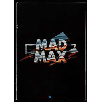 MAD MAX Japanese program '80 different art of Mel Gibson, George Miller sci-fi classic!