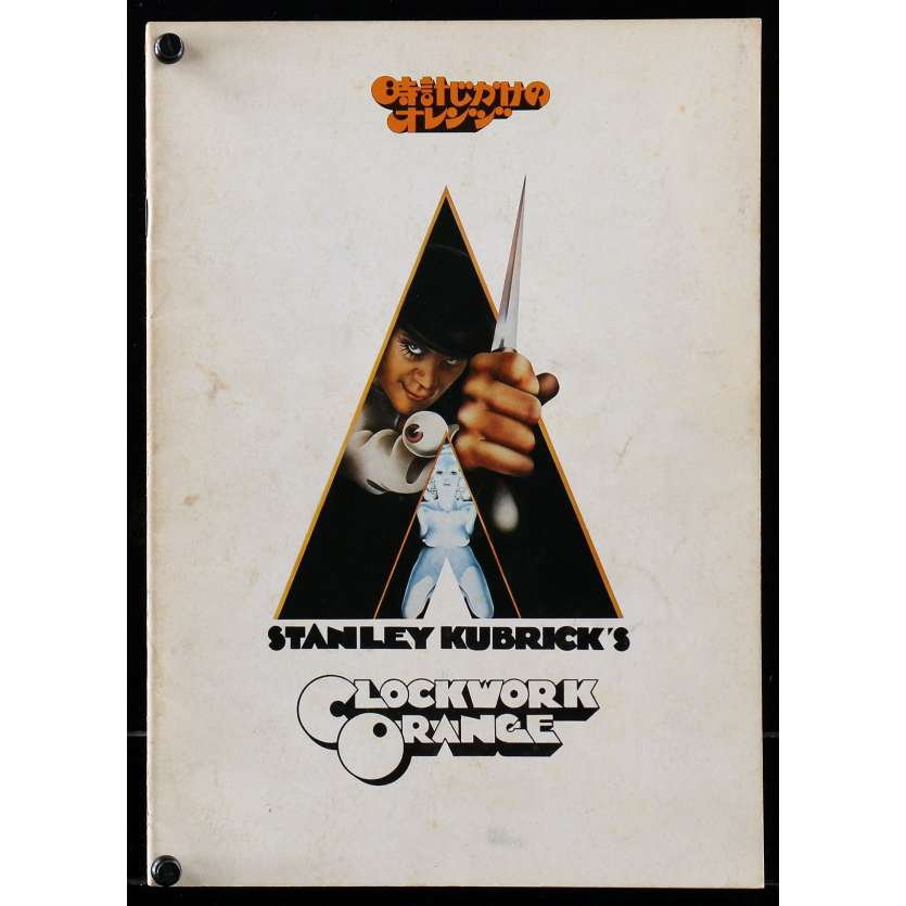 CLOCKWORK ORANGE Japanese Program R79, Stanley Kubrick, Malcom McDowell