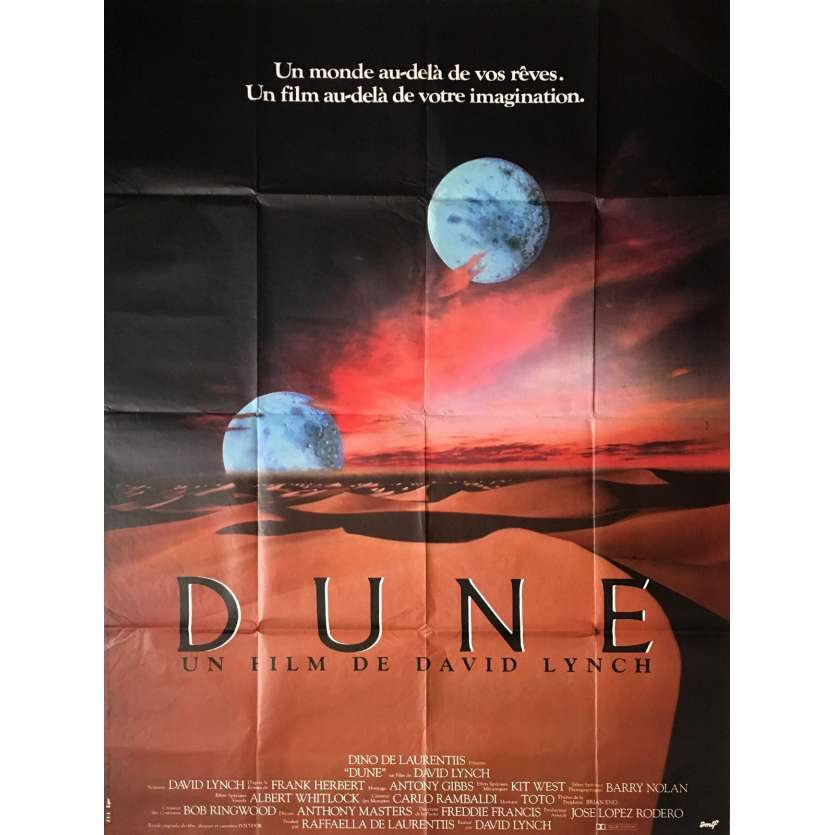 DUNE Movie Poster 47x63 in. French - 1984 - David Lynch, Kyle McLachlan