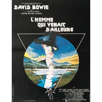 L'HOMME QUI VENAIT D'AILLEURS Affiche 40x60 Bowie Vintage Movie Poster