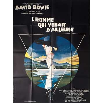 MAN WHO FELL TO EARTH French Movie Poster 47x63 '76 David Bowie, Original