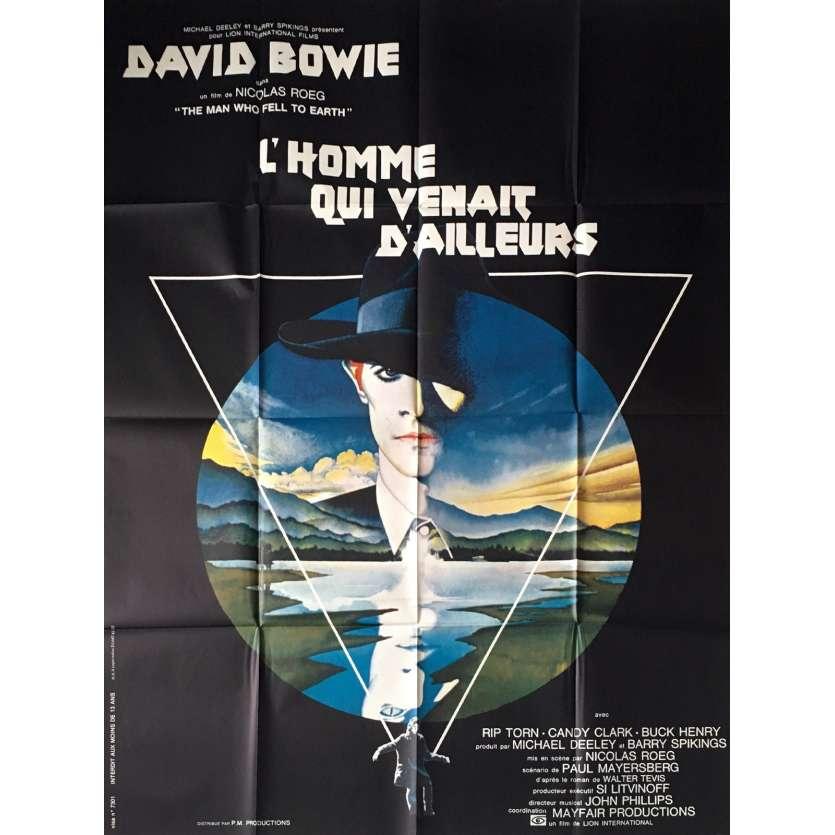 L'HOMME QUI VENAIT D'AILLEURS Affiche de film 120x160 - 1976 - David Bowie