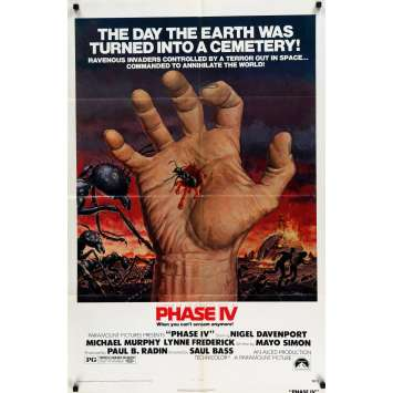 PHASE IV Movie Poster 27x40 in. - 1974 - Saul Bass, Nigel Davenport
