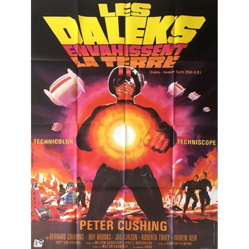 LES DALEKS ENVAHISSENT LA TERRE Affiche de film 120x160 cm - 1966 - Peter Cushing, Gordon Flemyng