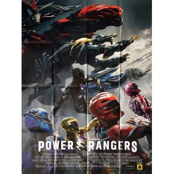 POWER RANGERS Movie Poster 47x63 in. - Style B. 2017 - Dean Israelite, Dacre Montgomery