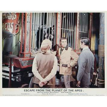 ESCAPE FROM THE PLANET OF THE APES Lobby Card 8x10 in. - N08 1971 - Don Taylor, Roddy McDowall