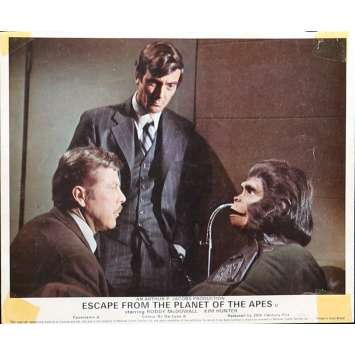 LES EVADES DE LA PLANETE DES SINGES Photo de film 20x25 cm - N02 1971 - Roddy McDowall, Don Taylor