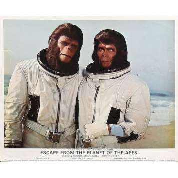 LES EVADES DE LA PLANETE DES SINGES Photo de film 20x25 cm - N01 1971 - Roddy McDowall, Don Taylor