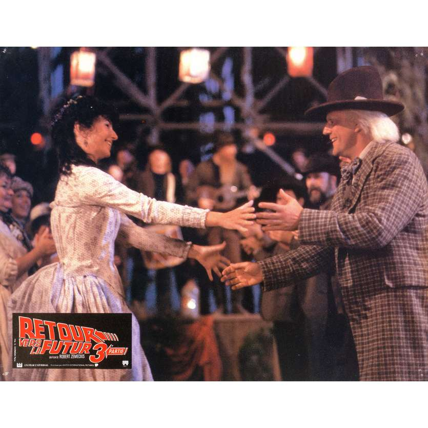 BACK TO THE FUTURE III Lobby Card 9x12 in. - N04 1990 - Robert Zemeckis, Michael J. Fox