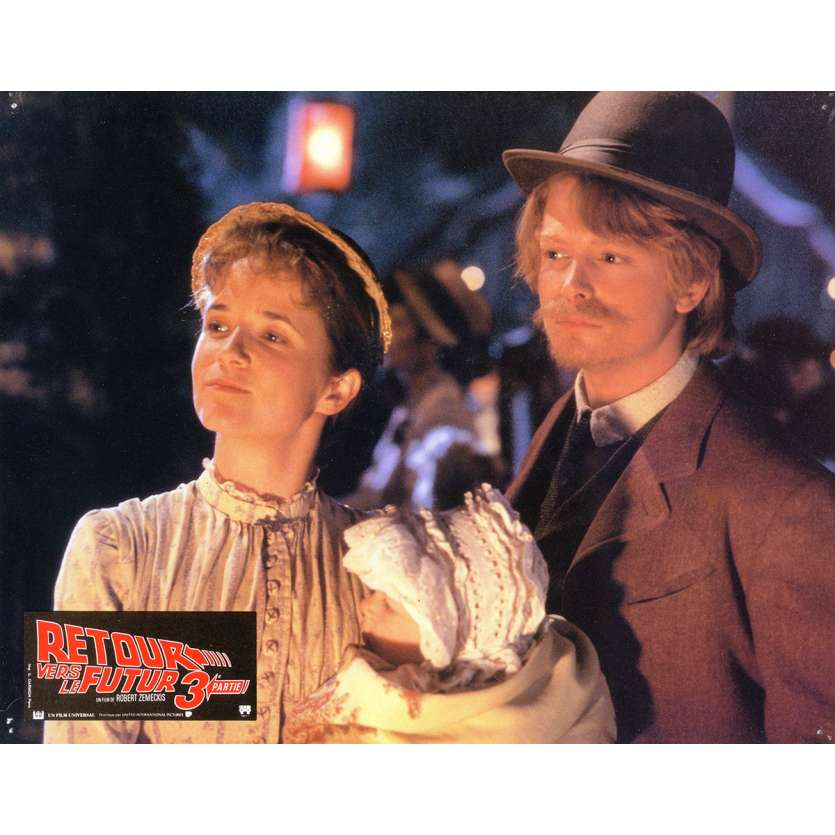 BACK TO THE FUTURE III Lobby Card 9x12 in. - N03 1990 - Robert Zemeckis, Michael J. Fox