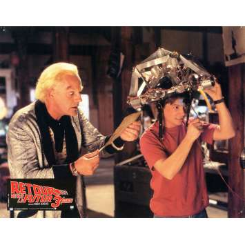 BACK TO THE FUTURE III Lobby Card 9x12 in. - N01 1990 - Robert Zemeckis, Michael J. Fox