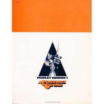 CLOCKWORK ORANGE Supplement 8x10 in. - N02 1971 - Stanley Kubrick, Malcom McDowell