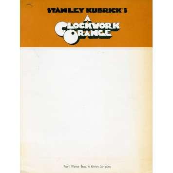 ORANGE MECANIQUE Supplément 20x25 cm - N01 1971 - Malcom McDowell, Stanley Kubrick