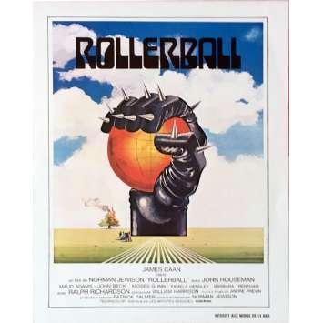 ROLLERBALL Herald 7x9 1/2 in. - 1975 - Norman Jewinson, James Caan