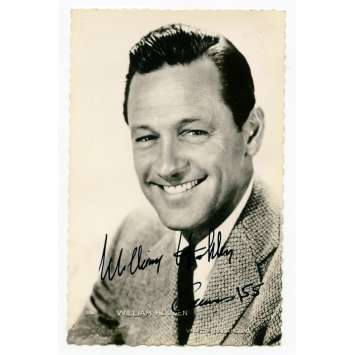 WILLIAM HOLDEN Carte Postale Signée Française Originale 9x14 cm - 1955